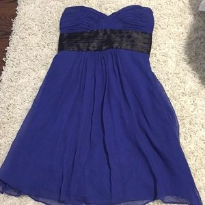 Laundry Blue and Black Strapless Dress